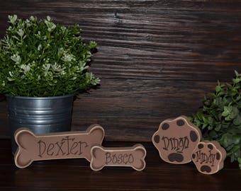 Personalized Dog Bone Personalized Cat Paw Custom Pet Decor BlocksofLove Pet Add-on Pet Memorial
