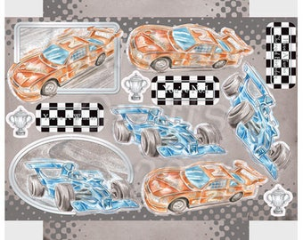 Blue F1 / stock car rouge_KBPCT9831