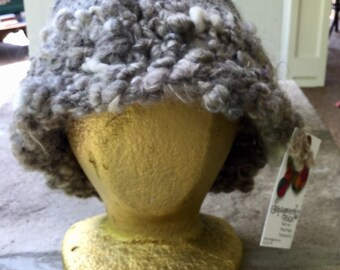 Handspun Art Yarn Hat