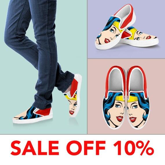 Shoes Wonder Wonder Superhero On America Custom Vans Woman Marvel Slip Woman Custom Wonder Slip Shoes Tiara Woman Shoes Shoes Custom on O8R6qI