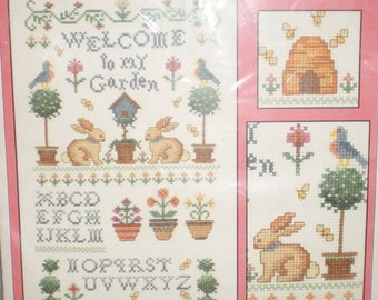 Welcome To My Garden Sampler Counted Cross Stitch No. 1869 Kit Imaginating