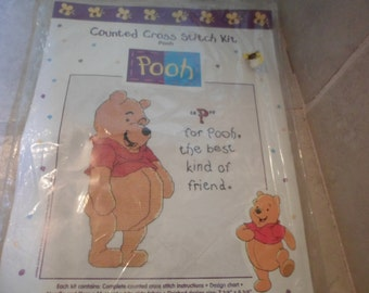 Pooh cross stitch kit.  P for Pooh the best kind of friend. new in pkg