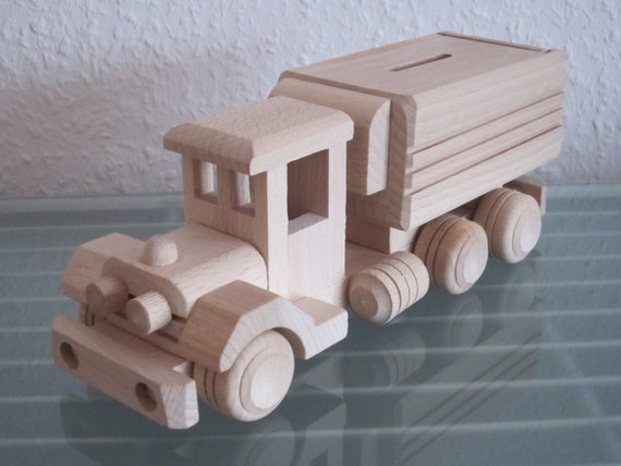 truck truck money box timber truck lorry car very rare. Black Bedroom Furniture Sets. Home Design Ideas