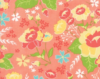 Peach Lulu Lane Fabric -  Moda - Corey Yoder - 29020 14