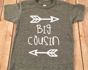 Big Cousin Shirt Big Cousin Shirts Personalized Shirt Sibling Shirts Brother Shirt Pregnancy Announcement Shirt Baby Announcement Shirt