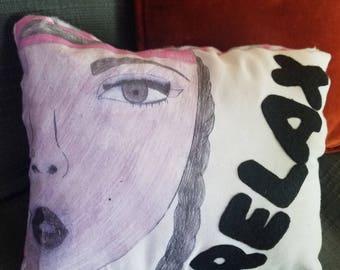 Teenage Style Throw Pillow