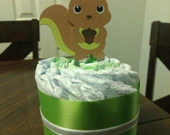 Mini squirrel Diaper Cake