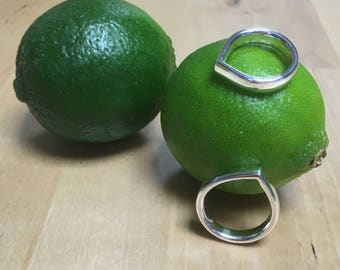 Lime - silver ring