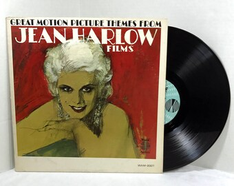 Great Motion Picture Themes From Jean Harlow Films vinyl record 1965 VG+