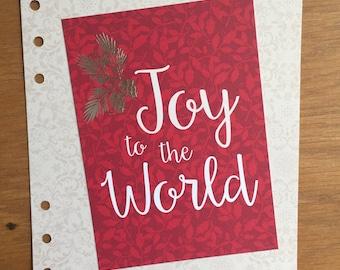 Joy to the World A5 Dashboard