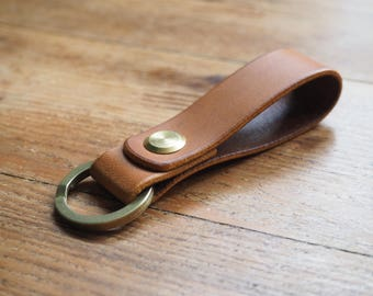 Keyring, leather keyring, key holder, Italian leather key fob, key fob, leather keychain, keychains