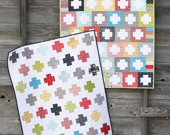 Inside Out Quilt Paper Pattern by Cluck Cluck Sew - modern geometric, Allison Harris, confident beginner quilt, baby quilt