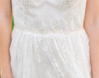 Bridal Gold Belt Pearl Sash Beaded Belt Pearl Belt Bridal Sash Bridal Belt Pearl Belt Wedding Belt #153