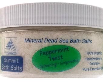 Peppermint Twist Bath Salts (8oz)