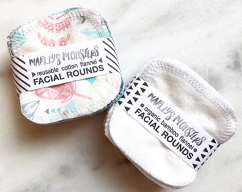 Facial Rounds, Reusable Facial Rounds, 20 Count, Cosmetic Rounds, Makeup Remover Pads, Eco-Friendly, Face Scrubbies, Unpaper Cloth Rounds