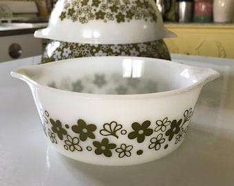 Vintage Pyrex Spring Blossom Crazy Daisy Casserole Dish #472-b 750ml Collectible Pyrex Retro Kitchenware