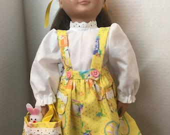 Easter outfit for 18 inch doll