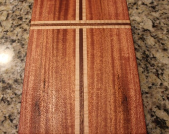 Custom Bible Box-Handcrafted from Striped Mahogany and Tiger Maple-SOLD on 3/24/18(KM)-Custom Laser Engraving is OPTIONAL