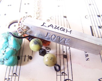Holiday Gift Idea, Gift Hand Stamped Bar keychain, Steel Bar keychain, Brag Tag keychain, Modern Mommy keychain