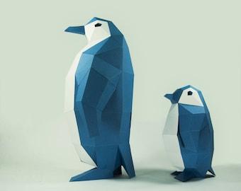 Penguin Model , Penguin, Paper DIY Kit, 3D Papercraft Animals, Penguin Kit, Papercraft Kit, DIY Penguin, 3D Paper Crafts animals