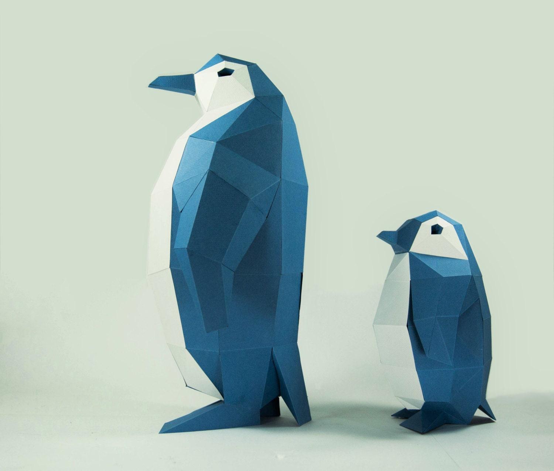 Penguin model penguin paper diy kit 3d papercraft animals zoom jeuxipadfo Image collections