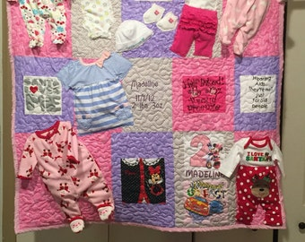 Baby Clothes quilt (made to order) (this is a deposit please see description)