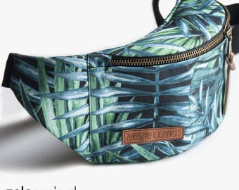 jungle Fanny Pack, Waist Bag, Bum Bag, Hip Pouch, Belt Bag, Custom Made, Slow Fashion