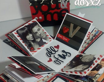 Exploding Photo Love Box / Caja de Fotos