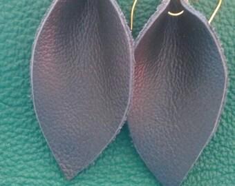 Navy blue leaf.