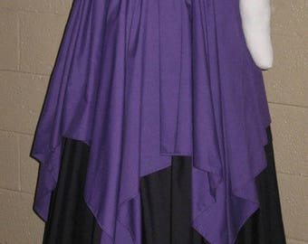 DDNJ Choose Your Color Long Petal Skirt Plus Custom Made ANY Size Renaissance Civil War Pirate Gypsy Witch LARP Costume Halloween