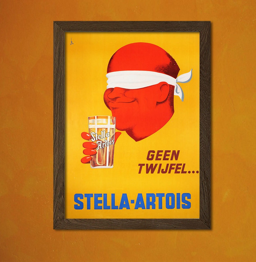 Stella Artois Beer Print - Vintage Kitchen Poster Kitchen Home ...