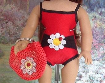 Ladybug Tank Style Bathing Suit with Matching Beach Bag