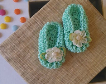 Shoes for mini Cinderellas mint baby girl shoes look