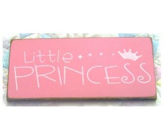 Little Princess primitive wood sign