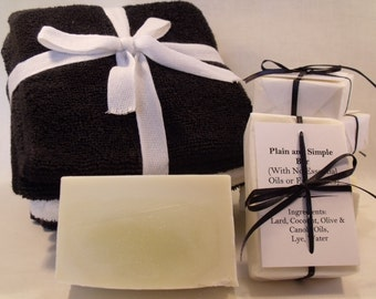 Plain and Simple Soap Hypoallergenic Without Fragrance Good for Sensitive Skin Sensitive Noses Moisterizing All-Natural