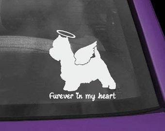 Westie Furever In My Heart Vinyl Sticker