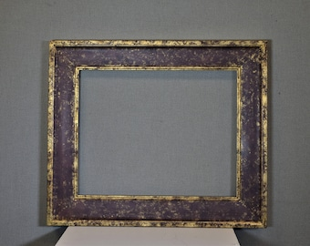 16x20 Frame Burgundy and Gold Wood with Optional Custom Matting