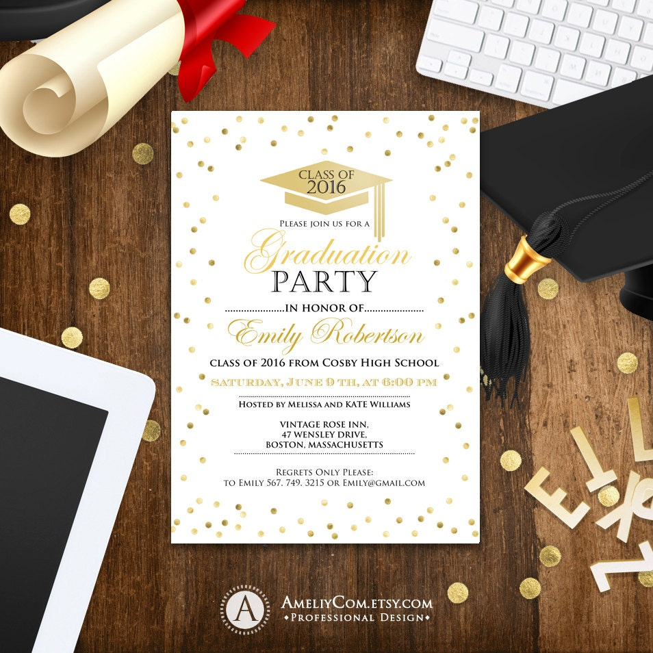 This is an image of Declarative College Graduation Announcements Templates