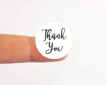 15 Thank You Stickers Labels Round Circle Stickers Thank You Labels Packaging Stickers Packaging Labels Favor Stickers Favor Labels (ic3A)