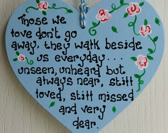 Lost loved ones plaque, Memorial plaque, Missing loved ones, In memory of loved ones, In loving memory, Bereavement sign