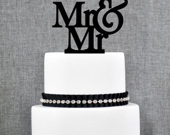 Gay Cake Topper, Gay Wedding Cake Topper, Mr And Mr Topper, Gold Cake Topper, Gay Wedding Decor, Topper for Wedding (T002)