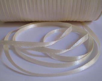 10 m beige 3mm satin ribbon