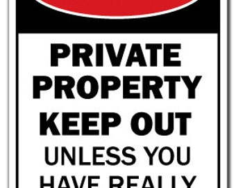 Private Property Huge Boobs Novelty Sign Funny Joke Gift Tits Breasts Adult Xxx