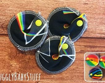 Three Pack of Gtube Rings Prism and Rainbow Print