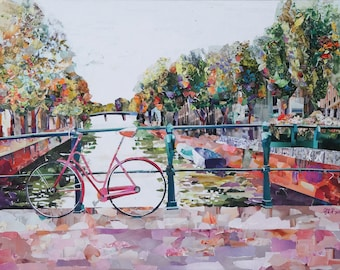 Amsterdam Bridge - Giclee Paper or Canvas Print