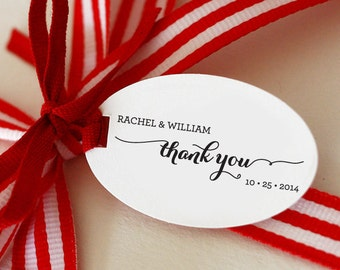 Thank You CUSTOM Stamp, Self Inking Stamp for wedding favor tags, thank you tags, party favor tags, thank you card, party gift tag, stamp 89