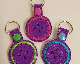 Button Key Ring