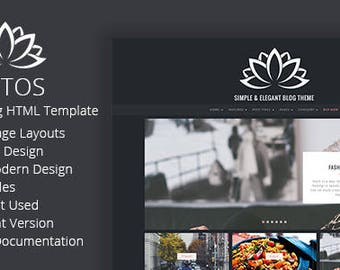 Lotos HTML Blog Template - Simple and Personal Blog Template