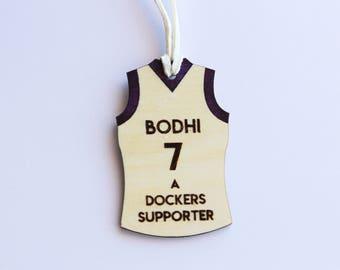 Personalised AFL Bag tag - Football jumper