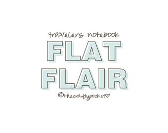 Travelers Notebook - Flat Flair - Paper Ephemera
